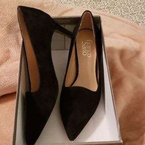Black suede shoes from Franco Sarto